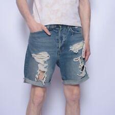 H&M X Coachella Denim Shorts Distressed Regular Mens size W 32