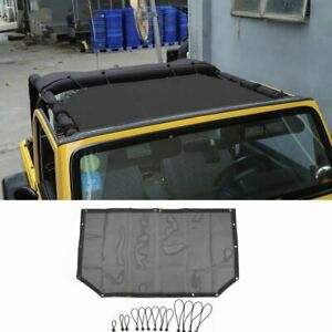 For Jeep Wrangler TJ 1997-2006 Auto Roof Insulation Mesh Net Cover Black Small