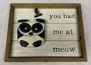 You Had Me At Meow: Wood Wall Decor Cat Lovers