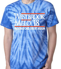 Tie-Dye Russell Westbrook Carmelo Anthony Okc Melo Westbrook 17 T-Shirt Shirt