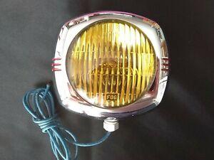 NOS Vintage U.S. Eagle 145 Pioneer Amber Fog Light, 6 Volt, WORKS!