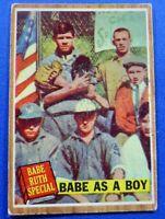 BABE RUTH New York Yankees 1962 Topps Babe as a Boy #135
