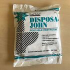 Disposa John Brief Relief 5 Disposable Bags Portable Concert Trip Camping Toilet