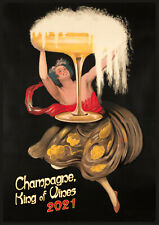 2022 Wall Calendar (12 pgs) Champagne Vintage Alcohol Ads Posters M489