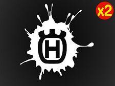 2 x HUSQVARNA TE Enduro Motorcycle Helmet Tank Stickers 100mm 15 colours
