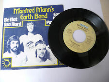 """MANFRED MANN EARTH BAND""""BE NOT TOO HARD- disco 45 giri BRONZE Ger 1974""""PERFETTO"""