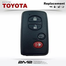 New Smart Prox Remote Key Shell Replacement Case 4 Buttons For Toyota 2008-2014