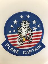 U.S. Navy Aviation Tomcat Pilot's 'Plane Captain' cloth embroidered patch
