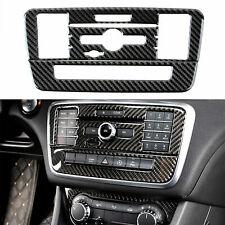 Carbon Fiber Media Control Panel Cover Trim Fit Mercedes Benz C Class GLA CLA