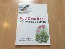 Red Data Book of the Baltic Region Paperback Book Andersson Tjernberg Ingelog