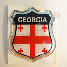 Pegatina Georgia 3D Escudo Emblema Vinilo Adhesivo Resina Relieve Coche Moto