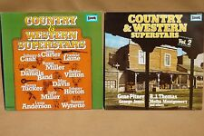 Europa-Country & Western Superstars Vol.1+2,LP,Vinyl,Johnny Cash,Pitney,VG+,VG+