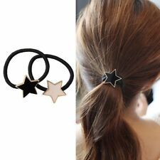 Fashion White and Black Star and Elastic Ponytail Holders