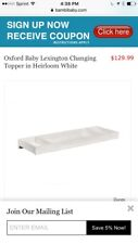 Oxford Baby Lexington Changing Topper-Heirloom White-RARE VINTAGE-SHIPS N 24 HRS