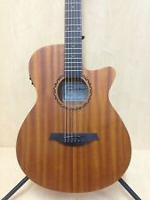 "Caraya Safair 40"" CEQ All Mahogany Thin-body Acoustic Guitar,Cutaway,EQ+Free Bag"