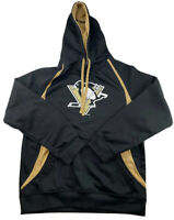 Pittsburgh Penguins NHL Black Zip Up Hoodie Sweatshirt Men's M Hooded Logo