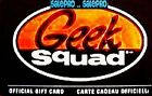 BEST BUY CANADA OFFICIAL GEEK SQUAD CADEAU SCARCE COLLECTIBLE GIFT CARD For Sale