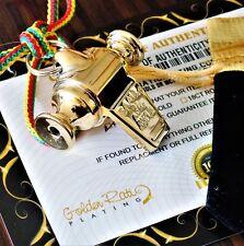 24Ct Gold Plated Acme Samba Carnival Whistle Laynard Gift Bag 24K
