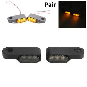 2x Amber (Flashing) Mini Motorcycle Turn Signal Indicators Lights Blinker Lamp