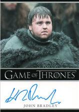 Game of Thrones Season One, John Bradley 'Samwell Tarly' Autograph Card