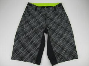 Mens Medium Pearl Izumi gray black MTB baggy cycling shorts unlined