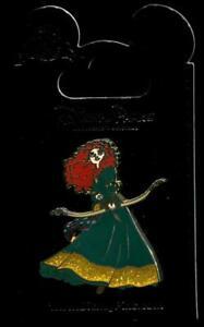 Brave Princess Merida Glitter Dress Holding Bow Disney Pin 117822