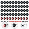"""50 12V 3/4"""" Black Smoked Red LED Clerance Marker Bullet Light Lamp Truck Trailer"""