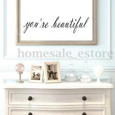 You're Beautiful Vinyl Decal Removable Mirrors Room Wall Sticker Home Decoration