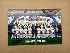 Signed Post Card 2004-05 Real Madrid Casillas Raul Figo David Beckham