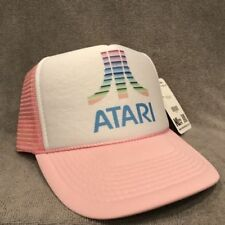 ATARI Trucker Hat Old Video Game Logo Vintage Style Snapback Cap Pink 2180