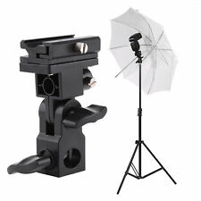 Adjustable Flash Hot Shoe Umbrella Holder Swivel Bracket Mount Light Stand TypeB