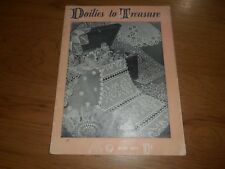 New listing Doilies To Treasure - Book 1600 By Lily