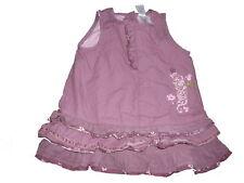 C & A tolles Kleid Gr. 74 lila mit Rüschen am Saum !!