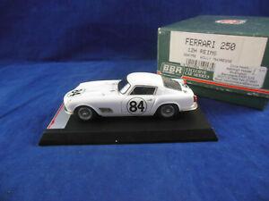 Rare BBR Models BBR75E Ferrari 250 12H Reims Rn 84 Willy Matresse in White