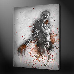 NEGAN THE WALKING DEAD CANVAS PRINT PICTURE WALL ART JEFFREY DEAN MORGAN