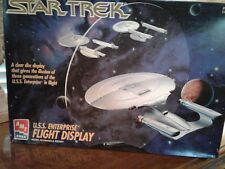 AMT Ertl Star Trek USS Enterprise Flight Display Plastic Scale Model Kit Level 2