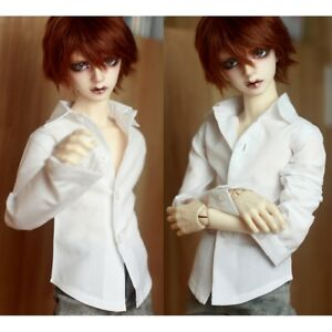 """White Business Shirt Outfit For Male BJD 1/3 24"""" 60cm SD AOD AS Luts DOD doll"""