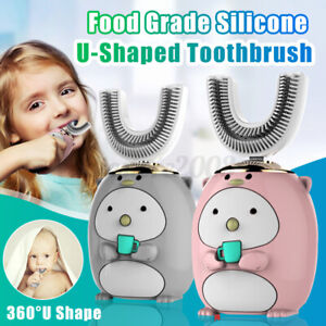 360° Electric Toothbrush Silicone U-shaped Intelligent Charging Children   !GL