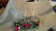 Set of Three Baccarat Wine Glasses