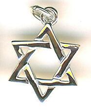"925 Sterling Silver Star of David Pendant 16mm diameter 5/8"""