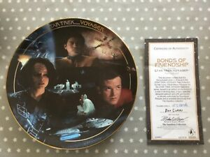 Star Trek Bonds of Friendship Hamilton Collection Plate with COA