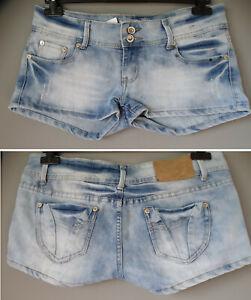 Shorts pantaloncini corti di jeans L 44 denim donna ELASTICIZZATI pantaloni DM