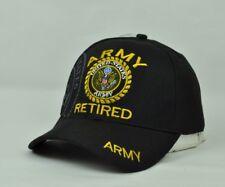 Stati Uniti Militare Retired Uomo Cappello Nero Regolabile Curvo a Becco