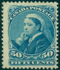 CANADA #47 50¢ deep blue, og, hinged, fresh & scarce,  Scott $475.00