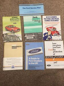 Ford Escort Mk3 Service Book Kit