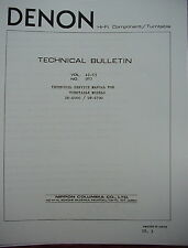 DENON DP-6000 and DP-6700 TURNTABLE TECHNICAL SERVICE MANUAL 34 Pages