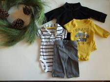 Baby Boys NEWBORN Winter Clothes Outfit Lot Jacket Bodysuits Pants Carters Circo