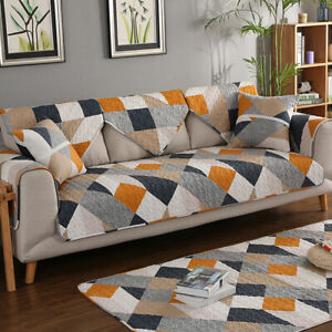 Sofa Cover Couch Protector Removable Quilted Couch Slipcover Non-slip Cushion