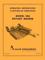 Allis Chalmers Model 184 Rotary Mower Operators Manual AC