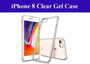 For New Apple iPhone 8 Transparent Crystal Clear Slim Case Gel TPU Back Cover